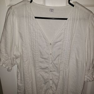White short sleeve old navy blouse